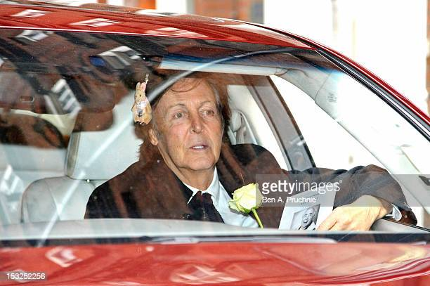 Sir Paul McCartney attends the memorial service for Victor Spinetti at St Paul's Church on October 2 2012 in London England