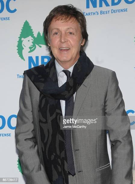 """Sir Paul McCartney attends the Natural Resources Defense Council's 11th annual """"Forces For Nature"""" benefit at 583 Park Avenue on March 30, 2009 in..."""