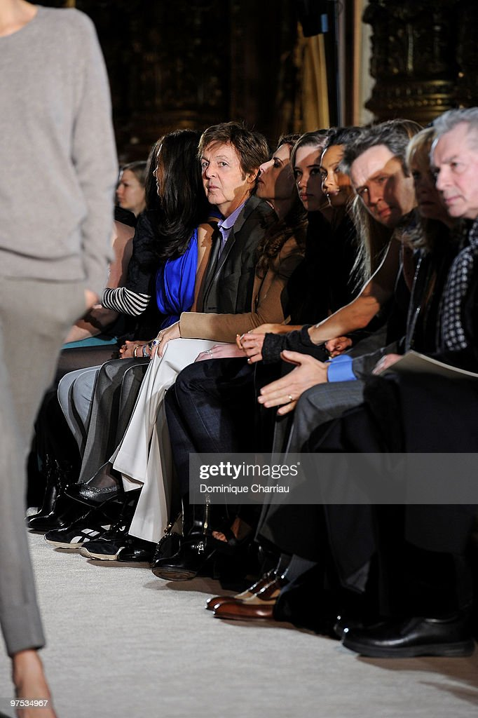 Sir Paul McCartney attends the Stella McCartney Ready to Wear show as part of the Paris Womenswear Fashion Week Fall/Winter 2011 at Opera Garnier on March 8, 2010 in Paris, France.
