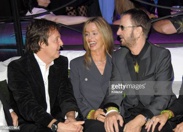 Sir Paul McCartney Barbara Bach and Ringo Starr *EXCLUSIVE*