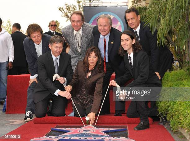 Sir Paul McCartney, Hollywood Chamber of Commerce President and CEO Leron Gubler, actor Eric Idle, Olivia Harrison, Los Angeles city councilman Tom...