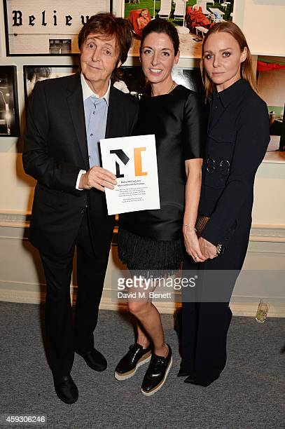 Sir Paul McCartney Mary McCartney and Stella McCartney attend the book launch and private view of Mary McCartney Monochrome And Colour curated by De...