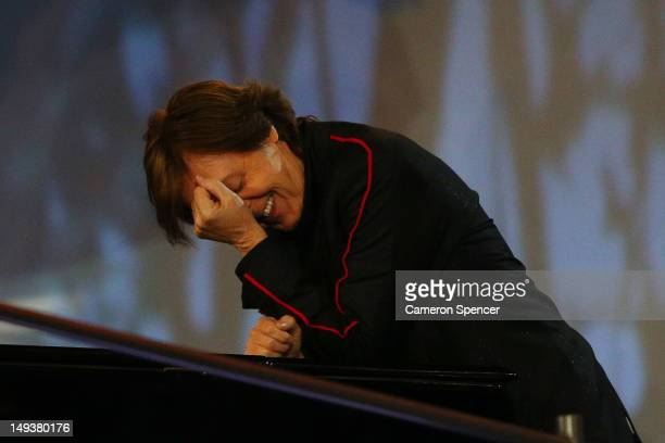 Sir Paul McCartney performs during the Opening Ceremony of the London 2012 Olympic Games at the Olympic Stadium on July 27 2012 in London England