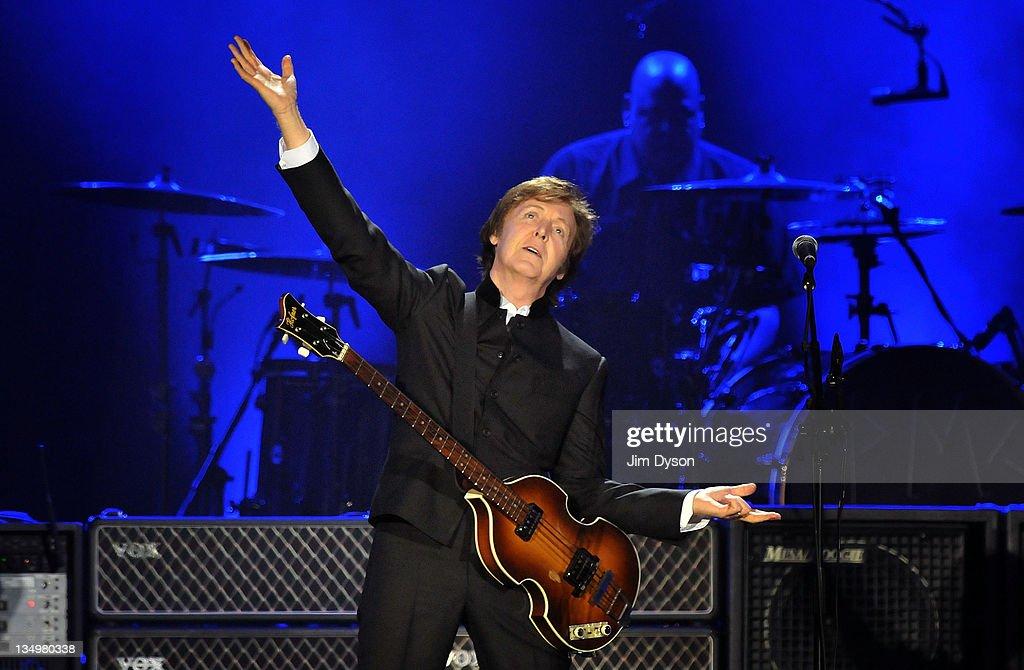 Sir Paul McCartney performs live on stage at O2 Arena on December 5, 2011 in London, United Kingdom.