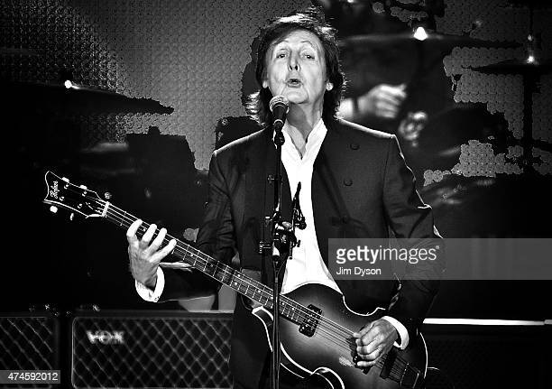 Sir Paul McCartney performs live on stage at The O2 Arena on May 23 2015 in London England