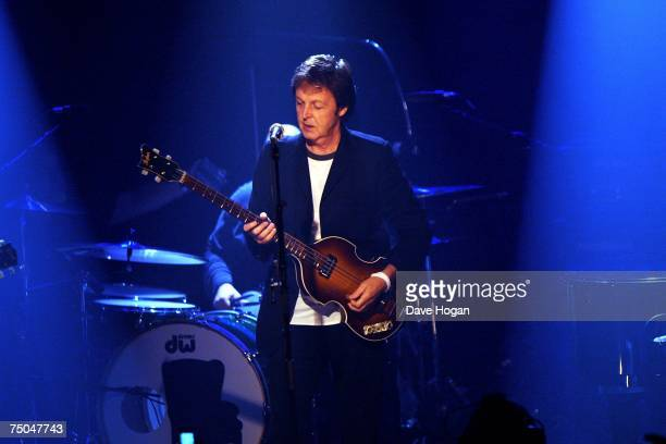Sir Paul McCartney performs on stage as part of the iTunes Festival at the Institute of Contemporary Arts on July 5 2007 in London England Over 60...