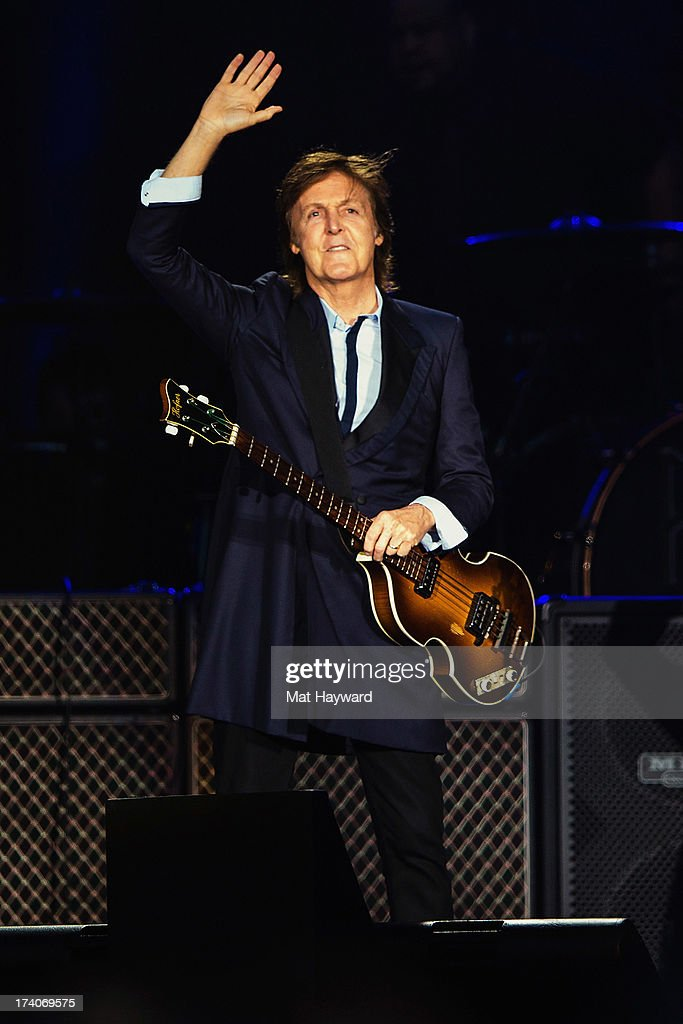 Sir Paul McCartney Performs On Stage At Safeco Field July 19 2013 In Seattle