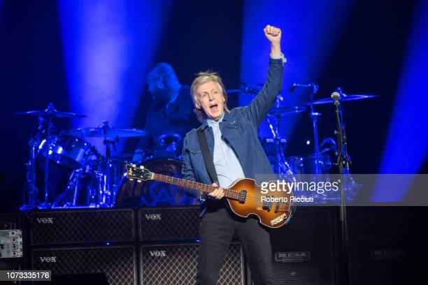 Sir Paul McCartney performs on stage at The SSE Hydro on December 14 2018 in Glasgow Scotland