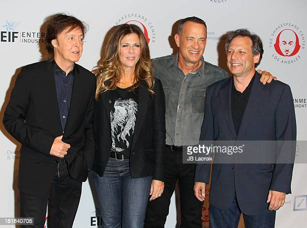 Sir Paul McCartney Rita Wilson and Tom Hanks attend the 23rd Annual Simply Shakespeare Benefit Reading Of The Two Gentlemen Of Verona at The Broad...