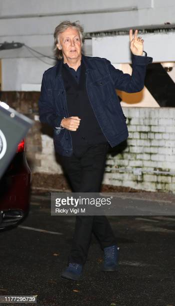 Sir Paul McCartney seen attending Apple Corps - Abbey Road 50th anniversary party on September 26, 2019 in London, England.