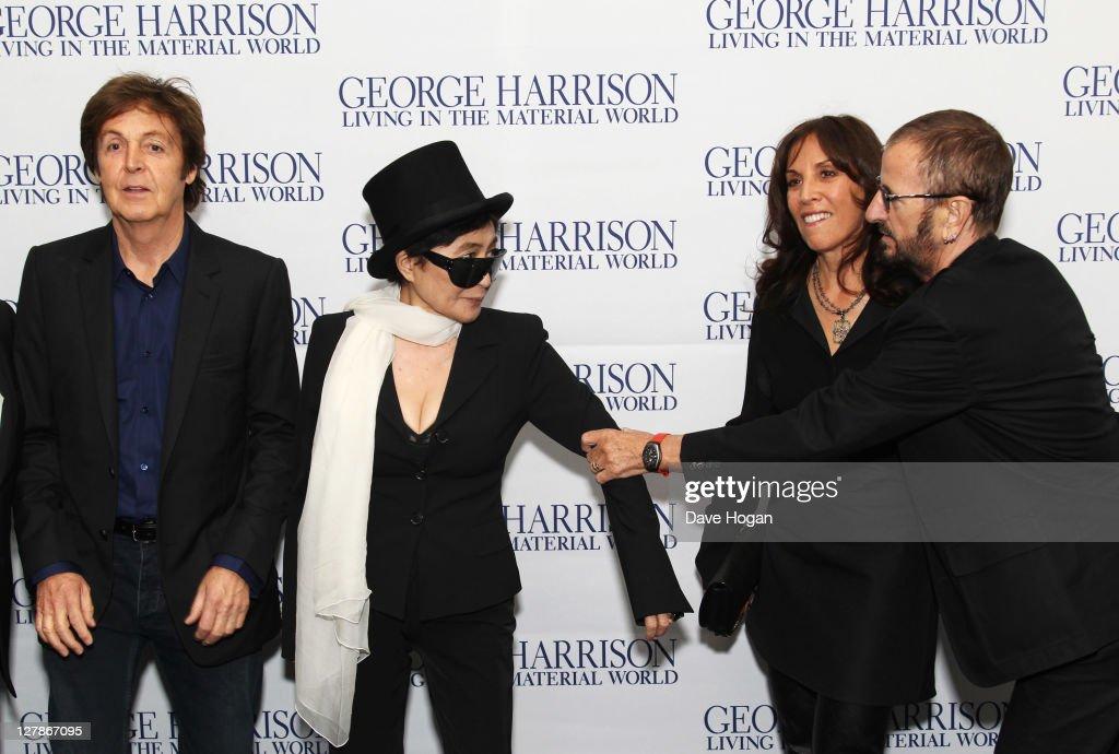L R Sir Paul Mccartney Yoko Ono Olivia Williams And Ringo Starr News Photo Getty Images