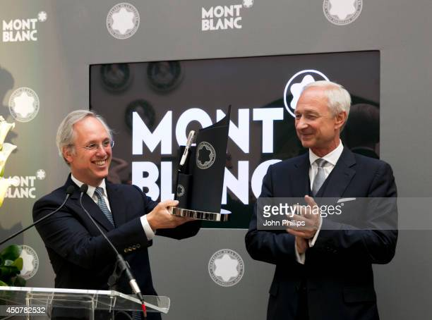 Sir Paul Ruddock and Lutz Bethge during the Montblanc De La Culture Arts Patronage Award 2014 at Victoria and Albert Museum on June 17 2014 in London...