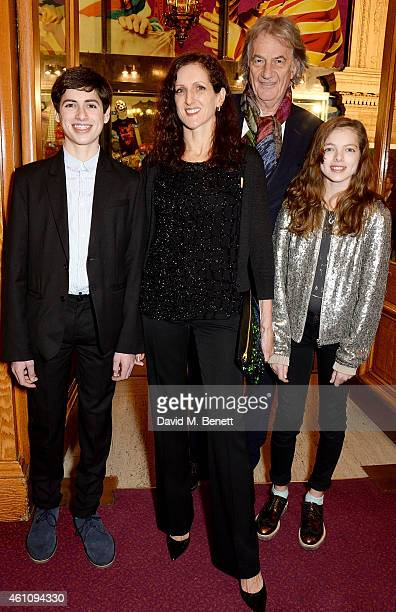Sir Paul Smith and Pauline Denyer attend the VIP performance of 'Kooza' by Cirque Du Soleil at Royal Albert Hall on January 6 2015 in London England