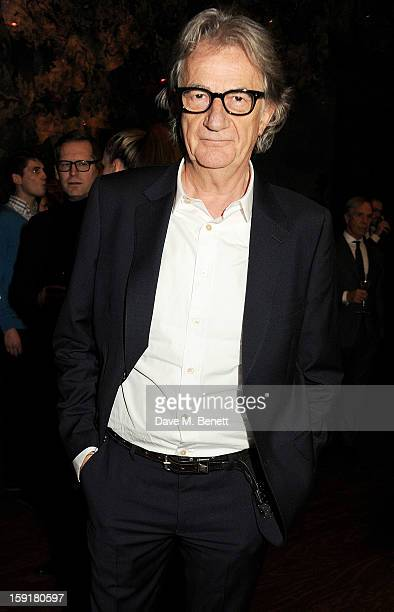 Sir Paul Smith attends a private dinner hosted by Sir Paul Smith Tinie Tempah and GQ editor Dylan Jones to celebrate London Collections MEN AW13 at...