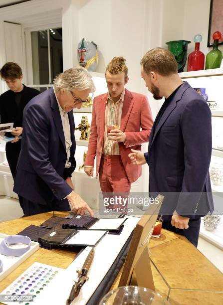 Sir Paul Smith Ollie Feather and Chris Moon attend an intimate evening hosted by Paul Smith The Gentleman's Journal to introduce the Paul Smith...