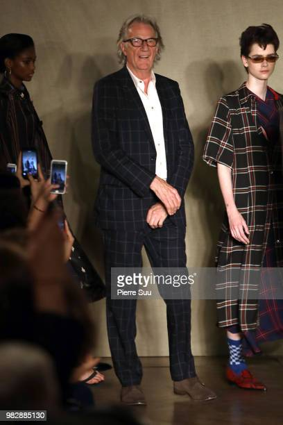 Sir Paul Smith salutes the guests on the runway during the Paul Smith Menswear Spring/Summer 2019 show as part of Paris Fashion Week on June 24 2018...