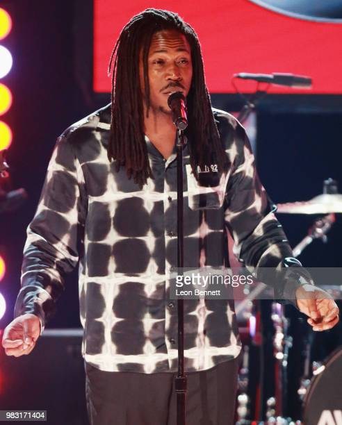 Sir performs onstage at the 2018 BET Awards at Microsoft Theater on June 24 2018 in Los Angeles California