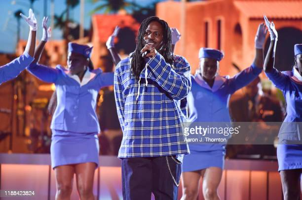 SiR performs onstage at the Soul Train Music Awards on November 17 2019 in Las Vegas Nevada