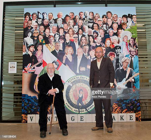 Sir Peter Blake and Wayne Hemingway MBE pose for pictures as they reflect back on Blake's 60 year career and their shared love of collecting mass...