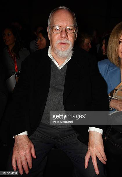 Sir Peter Blake at the Betty Jackson Runway show part of London Fashion Week A/W 2008/09 at the Natural History Museum on February 12 2008 in London...