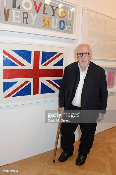Sir Peter Blake attends a private view of the Royal Society Of Portrait Painters Annual Exhibition at Mall Galleries on May 4 2016 in London England