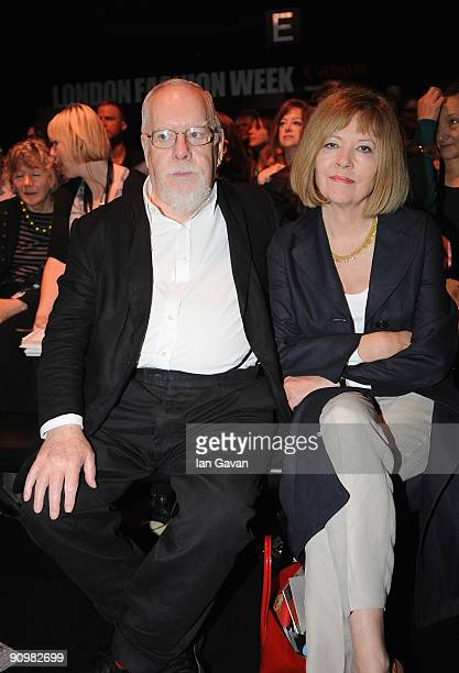 Sir Peter Blake attends the Betty Jackson Fashion Show at the BFC Tent at Somerset House during London Fashion Week on September 20 2009 in London...