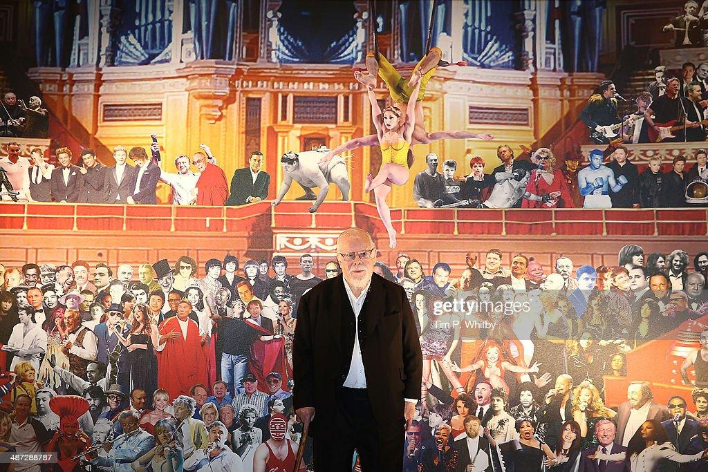 Sir Peter Blake Unveils His New Royal Albert Hall Mural : News Photo