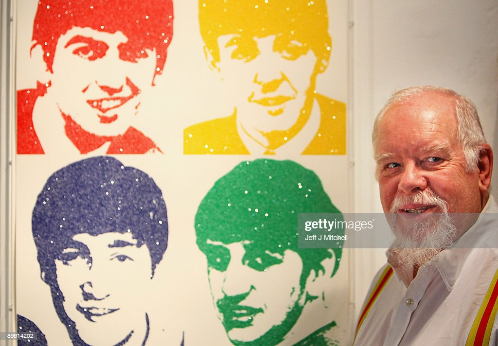 Sir Peter Blake stands with his print of the Beatles at the launch of Edinburgh art festival on August 5, 2009 in Edinburgh, Scotland. Established in 2004, it is Scotland�s largest visual arts festival, with works showing in many of the cities galleries and museums until September the 5th.