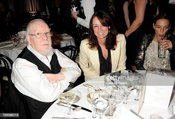 Sir Peter Blake, Trish Simonon and Tiphaine de Lussy attend the Harper's Bazaar Women of the Year Awards 2012, in association with Estee Lauder,...
