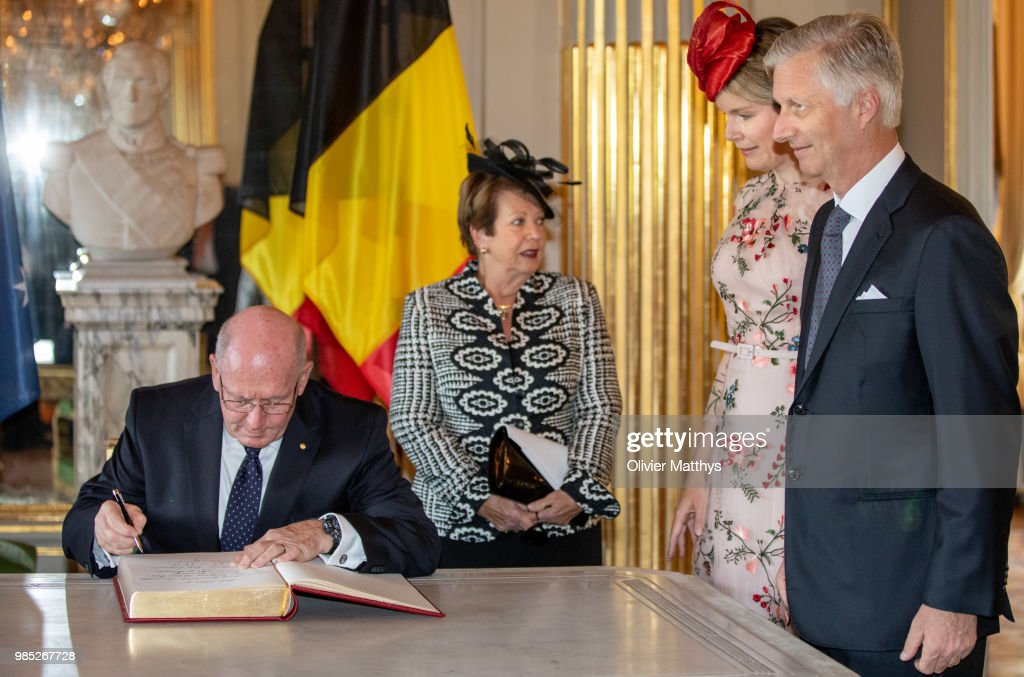 Sir Peter Cosgrove, Governor General Of The Commonwealth of Australia On Ofiicial Visit In Belgium : Foto di attualità