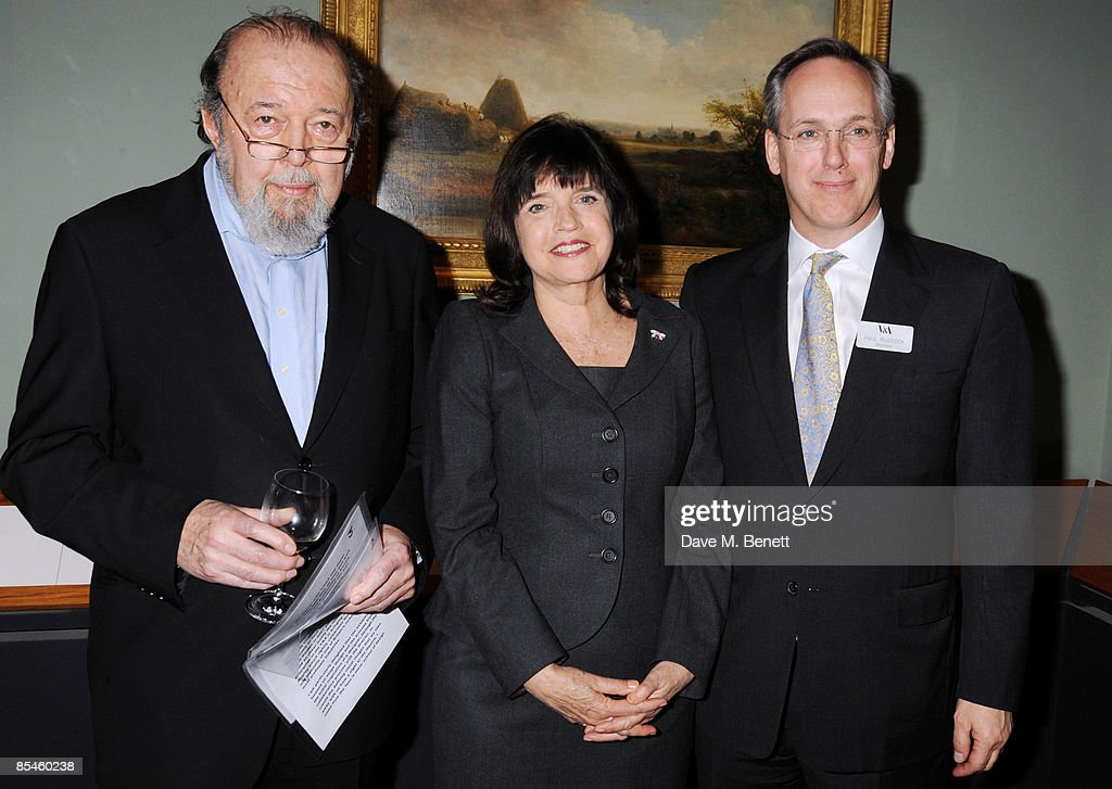 Sir Peter Hall, Labour Culture Minister Barbara Follett and Paul Ruddock attend the launch party for the Victoria & Albert Museum's new theatre and performance galleries, which were opened by Sir Peter Hall and Labour's new Culture Minister Barbara Follett at the Victoria & Albert Museum on March 16, 2009 in London, England.