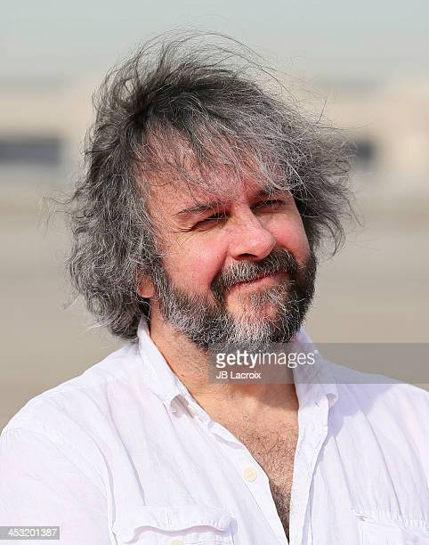 Sir Peter Jackson attends a Meet and Greet with cast members of 'The Hobbit The Desolation of Smaug' at LAX Flight Path Museum on December 2 2013 in...