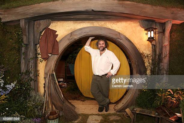 "Sir Peter Jackson attends a photocall for ""The Hobbit: The Battle Of The Five Armies"" on December 3, 2014 in London, England."