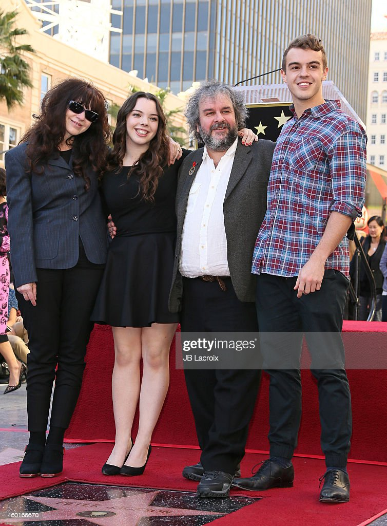 Sir Peter Jackson with his family attend the ceremony