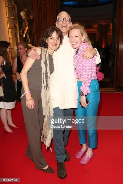 Sir Peter Jonas and his wife Barbara Burgdorf and Sunnyi Melles during the opening night party of the Munich Film Festival 2017 at Hotel Bayerischer...