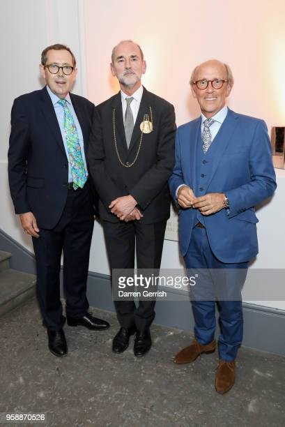 Sir Peter Luff Christopher Le Brun PRA and Lord Davies of Abersoch attend the new Royal Academy of Arts opening party at Royal Academy of Arts on May...