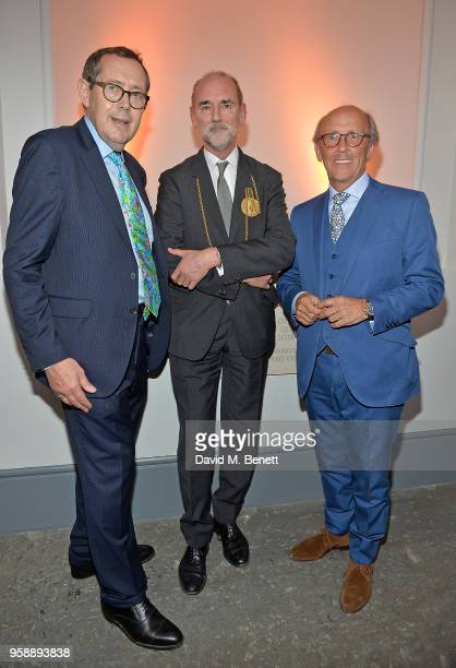 Sir Peter Luff Christopher Le Brun PRA and Lord Davies of Abersoch attend the unveiling of the newly refurbished Royal Academy of Arts celebrating...