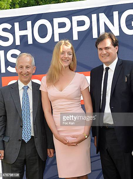 Sir Peter Ricketts, Flora Alexandra Ogilvy and Benjamin Cymerman attend the British 'Summer Time 2015' cocktail at the British Embassy and shops...