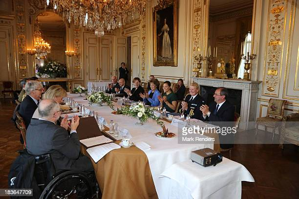 Sir Philip Craven Princess Astrid of Belgium Princess Margriet of The Netherlands and Princess Victoria of Sweden assist the Honorary Board of the...