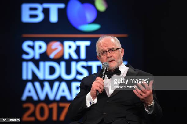Sir Philip Craven receives the Leadership in Sport award in association with Nolan Partners during the BT Sport Industry Awards 2017 at Battersea...