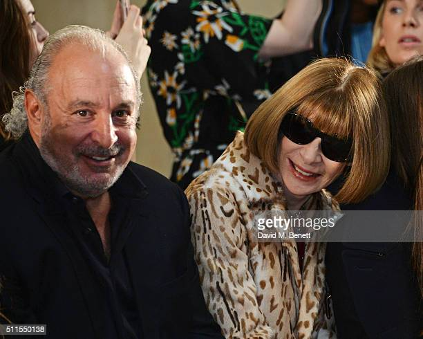 Sir Philip Green and Anna Wintour attend the Topshop Unique at The Tate Britain on February 21 2016 in London England