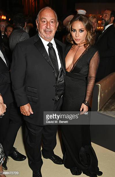 Sir Philip Green and Chloe Green attend a drinks reception at the British Fashion Awards in partnership with Swarovski at the London Coliseum on...
