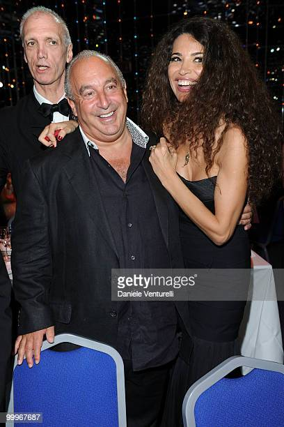 Sir Philip Green and guest attend the World Music Awards 2010 at the Sporting Club on May 18 2010 in Monte Carlo Monaco