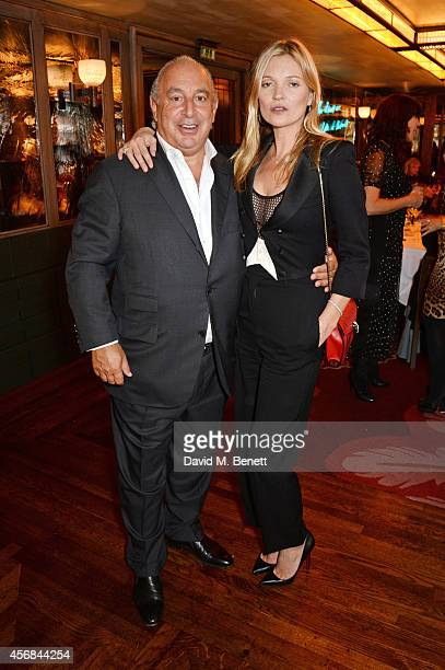 Sir Philip Green and Kate Moss attend the launch of The 34 Kate Moss Coupe at 34 Grosvenor Square on October 8, 2014 in London, England.