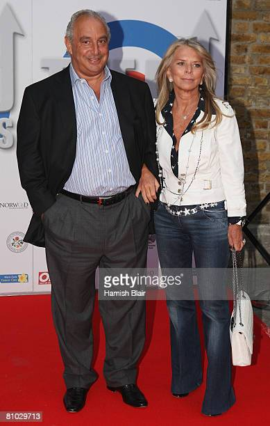 Sir Philip Green and wife Tina attend the RD Crusaders concert in aid of the Marie Curie Cancer Hospital held at Old Billingsgate Fish Market on May...