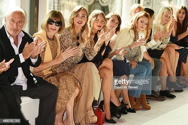 Sir Philip Green, Anna Wintour, Suki Waterhouse, Cressida Bonas, Alexa Chung, Bella Thorne, Brandon Green, Natalie Massenet, Poppy Delevingne, Martha...