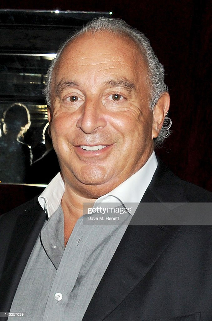Sir Philip Green attends as Tommy Hilfiger hosts a cocktail party to celebrate the launch of London Collections: Men at The Scotch of St. James London on June 14, 2012 in London, England.