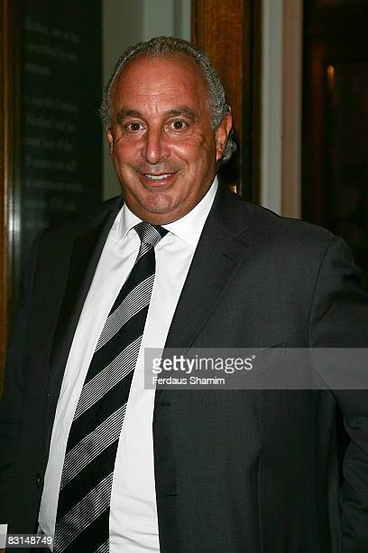 Sir Philip Green attends the Evening Standard's party celebrating London's 1000 Most Influential People 2008 at The Wallace Collection on October 6,...