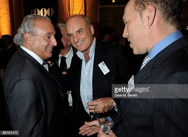 Sir Philip Green Nicholas Coleridge and Peregrine ArmstrongJones attend the launch party for the Evening Standard1000 Most Influential People In...