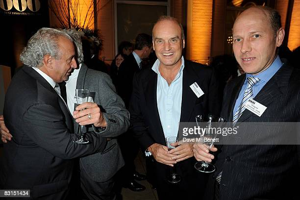 Sir Philip Green Nicky Haslam Nicholas Coleridge and Peregrine ArmstrongJones attend the launch party for the Evening Standard1000 Most Influential...